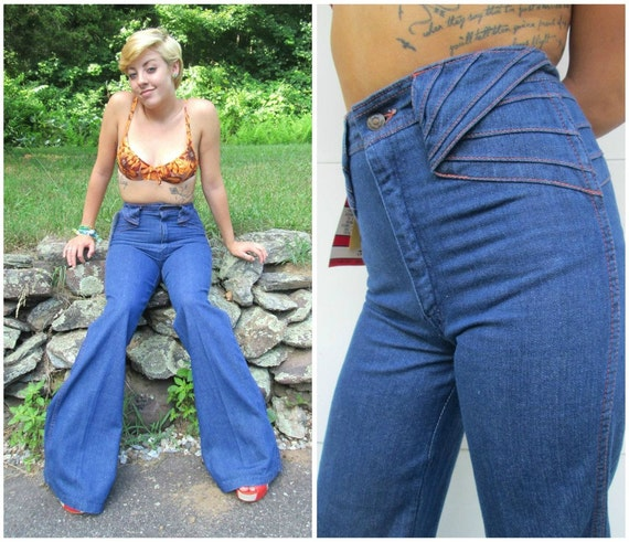 Bell bottoms, bell bottom jeans, high waist bell bottoms, wide leg ...