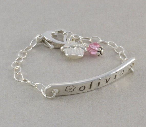 baby id bracelet sted sterling silver