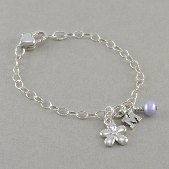 flower girl bracelet charm bracelets by sixsistersbeadworks