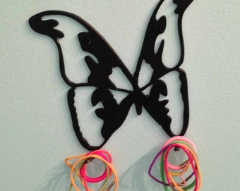 Two Butterfly Headband Or Ponytail Holder Hangers