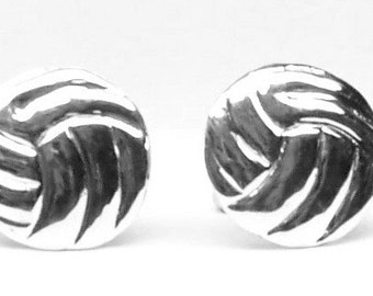 Pair of Vollyball Cufflinks  Sterling Silver Free Shipping