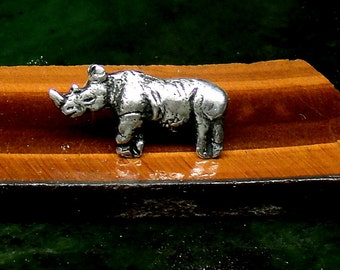 Mans Rhino Stud Earring Sterling Silver Free Shipping