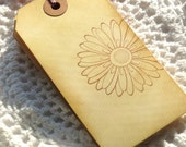 Vintage Daisy Handstamped Tags 6pcs
