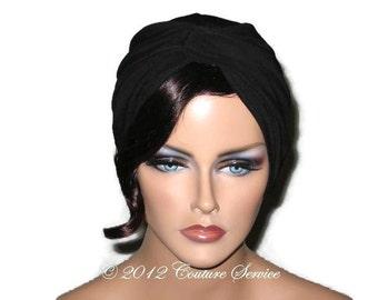 Black Turban, Large, Black Twist Turban, Women's Black Turban, Fashionable Black Turban, Black Turban Hat, Full Black Turban, Turbin, Soft