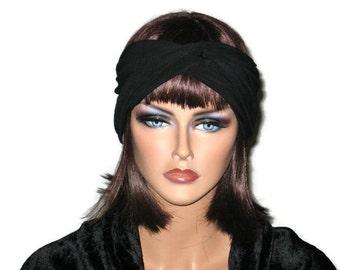 Black Turban, Headband, Women's Handmade Fashion, Bandeau, Twist