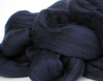"Ashland Bay Solid Colored Merino for Spinning or Felting ""Midnight""  4 oz."