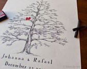Guest book alternative, holiday pine, signature tree, fingerprint tree, wedding guest book alternative, office party, holiday party
