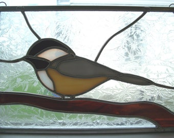 Stained Glass Chickadee #3