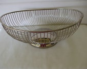 Silver Plate Oblong Wire Fruit, Bread Basket or Bowl,  by Leonard, Hong  Kong. (2 available) Centerpiece, Wedding