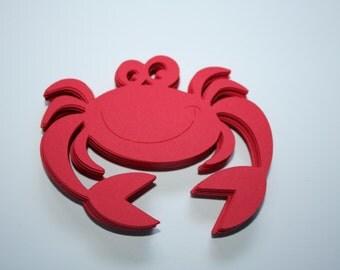 24 x Crab Die Cuts - Red