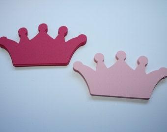 24 x Crown Die Cuts - Pink