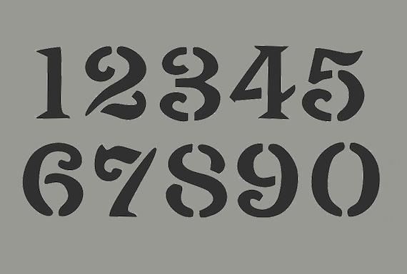 stencil numbers 3 inch vintage oly font by artisticstencils