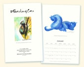 2014 12 Sketches of Cats Wall Calendar