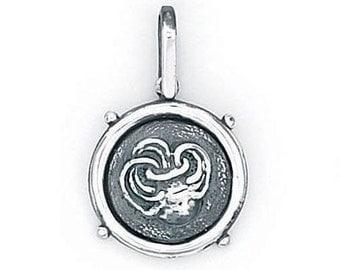 Aquarius Zodiac Pendant in Sterling Silver 504-23