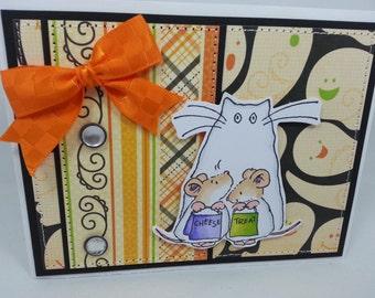 Halloween Ghosts - Blank NoteCard, Greetings Card, Handmade Card