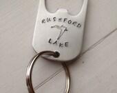 Rushford Lake Bottle Opener Key Chain
