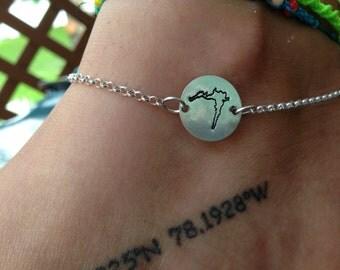 Rushford Lake Sterling Silver Ankle Bracelet