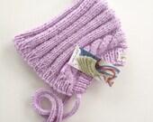 esmae's pixie hat in lavender