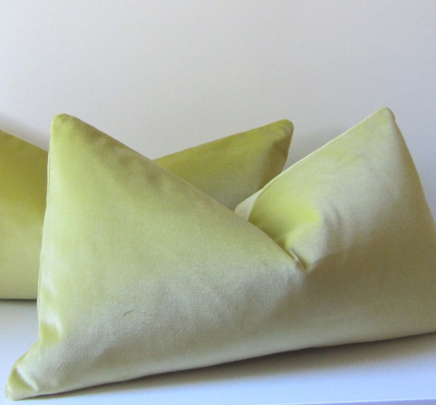 21 Inch Throw Pillow Covers : Citron Velvet Pillow Decorative Pillow Cover 11 x 21 inch