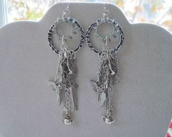 Industrial Silver Metal Steampunk Earrings
