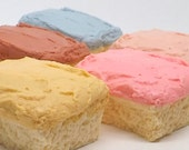 Frosted Cake Slice Glycerin Soap Gift Soap Party Favor Pink Glitter Cotton Candy