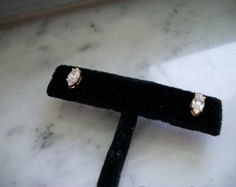 Marquise Shape Cubic Zirconia Stud Earrings