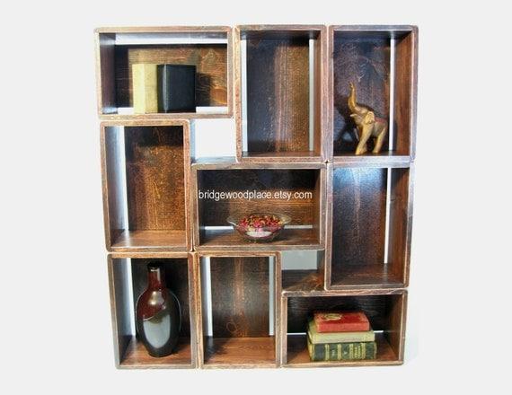 bookshelf bookcase wood crate shelves stackable by. Black Bedroom Furniture Sets. Home Design Ideas