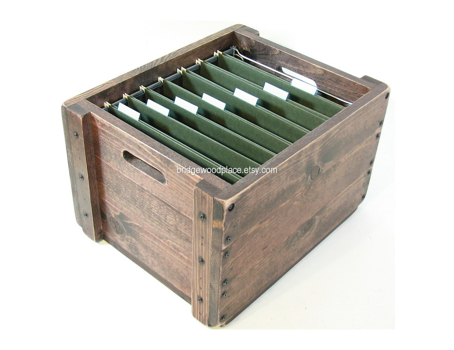 Wooden File Crate Wood Filing Box Office File By