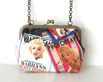 Marilyn Monroe,pop art ,patchwork shoulder bag,purse,hand bag,clutch