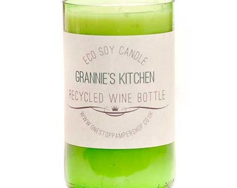 Recycled Wine Bottle Eco Candle