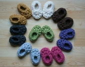 Easiest Crochet Bootie Pattern Ever!  Chunky Warm Unisex 3-6 Month Size Instant PDF File