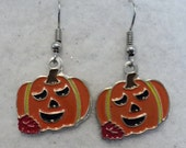 Pumpkin Earrings, Fall Earrings, Autumn Earrings, Fall Jewelry, Fall Leaf, Pumpkin Patch, Costume Jewelry Pumpkin Jewelry