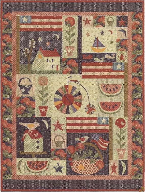 Primitive Folk Art Quilt Pattern Best Of All : Unavailable Listing on Etsy