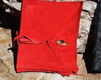 Hand  Stitched  Refillable  Blank  Leather   Journal  with  Glass  Eye