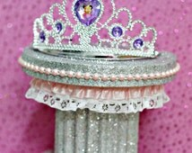 Princess Party Centerpiece, Sofia the First, Sweet 16 Party, Cake Topper, Crown Topper, Pretty in Pink, First Birthday,