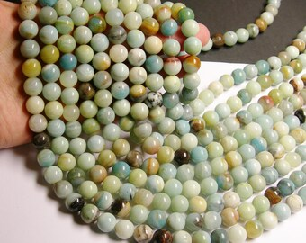 Amazonite - 12 mm round beads -1 full strand - 33 beads -  RFG212