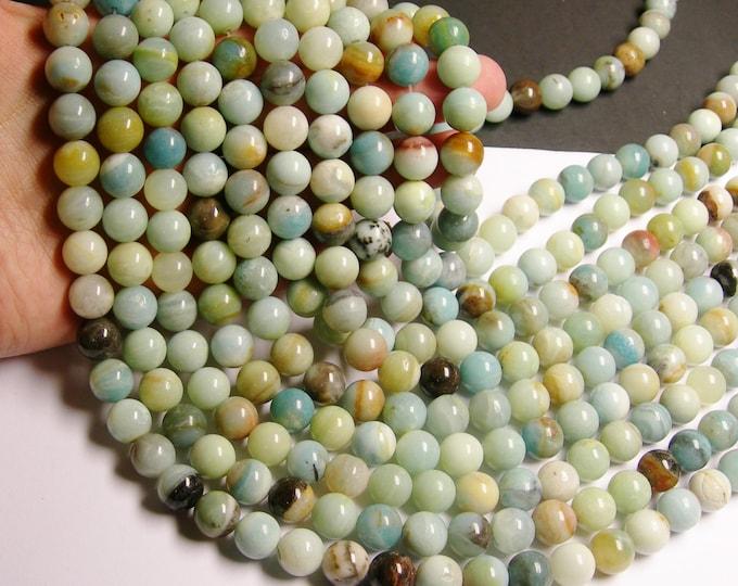 Amazonite - 12 mm round beads -1 full strand - 33 beads -  RFG212