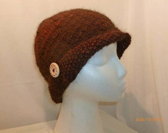 PDF Pattern for Knitted Cloche in Firwood Farm Alpacas Yarn