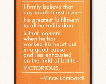 Vince Lombardi • Victorious/Field of Battle • Art Print • Various Colors/Sizes Available