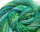 Hand Spun Superwash Wool 125 yards oceans delight