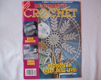 Decorative Crochet Magazine, January 2004 issue 97 Crochet Pattern Book, Thread, Doilies, Doily Patterns, Thread Crochet patterns book