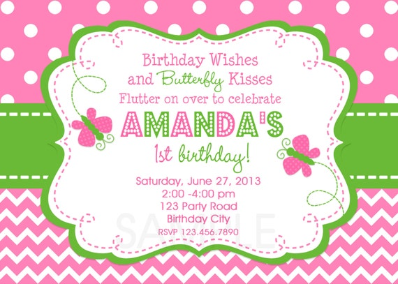 butterfly birthday invitation butterfly birthday party, Birthday invitations