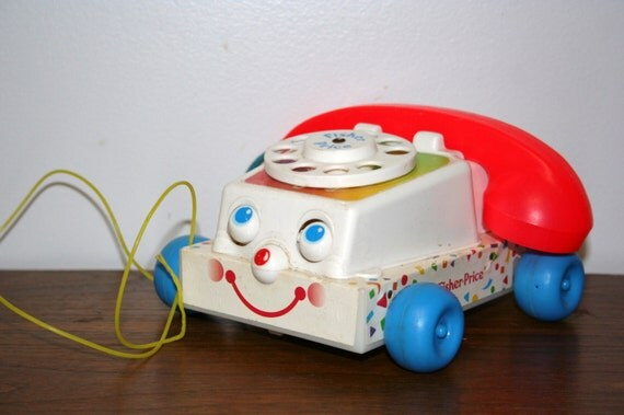 1985 Fisher Price Pull Along Phone