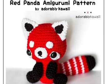 Red Panda Amigurumi Pattern, Crochet Red Panda Plush, Cute Nursery Toy, Animal Doll Pattern, Amigurumi Crochet Pattern, Red Panda Baby Toy