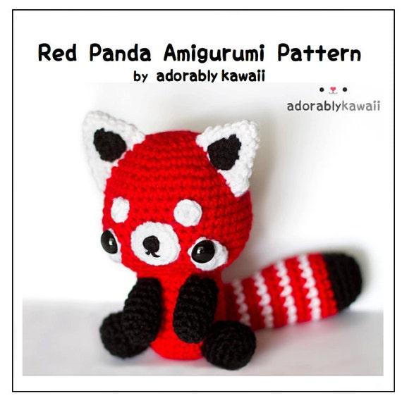 Amigurumi Guinea Pig Pattern Free : Red Panda Amigurumi PDF Crochet Pattern by adorablykawaii ...