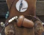 Double Wrap Acorn Necklace