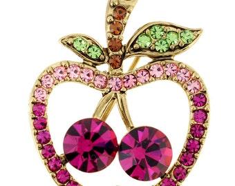 Fuchsia Apple Pin Fruit Pin Brooch 1012792