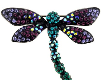Multicolor Dragonfly Pin Brooch 1010031