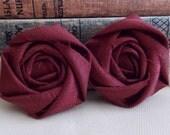 Burgundy Fabric Flower - Fall rosette - autumn - fall decor - crafts - fall wedding - autumn wedding decor - diy bride - wine color