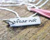 fear not necklace hand stamped sterling silver Isaiah 41:10